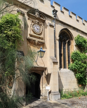 Clock at St John's College Oxford