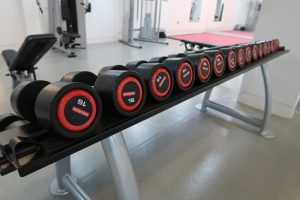 St John's College Oxford weights in gym